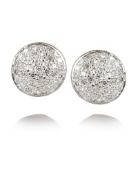 Monica Vinader - Pink Ava Button Rose Gold-Plated Diamond Earrings - Lyst