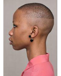 & Other Stories - Black Diamond Bar Earrings - Lyst