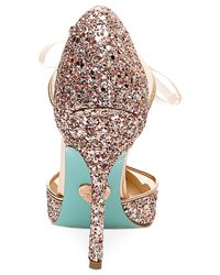 Betsey Johnson | Pink Stela Front-tie Pumps | Lyst
