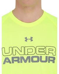 Under Armour - Yellow Core Training T-shirt - Lyst