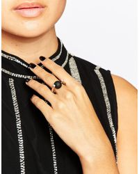 Oasis | Metallic Spinning Ball Ring | Lyst