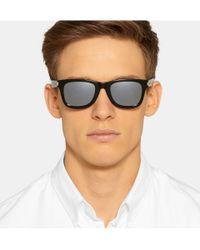 Saint Laurent | Black Square-Frame Acetate Sunglasses for Men | Lyst