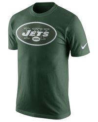 Nike Green Men's New York Jets Mesh Logo T-shirt for men
