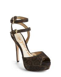 Sam Edelman | Metallic Nadine printed Platform Sandals  | Lyst