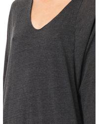 Raquel Allegra Gray Dolman-Sleeve Jersey Dress