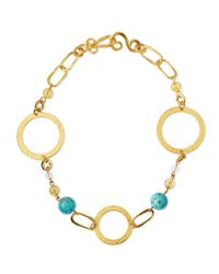 Stephanie Kantis Metallic Love Gold-dipped Turquoise Necklace