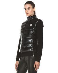 moncler black ghany vest
