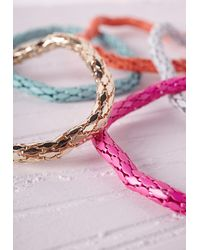 Missguided | Multicolor Contrast Chain Stacking Bracelets Multi | Lyst