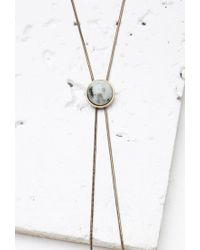 Forever 21 - Metallic Faux Stone Bolo Necklace - Lyst
