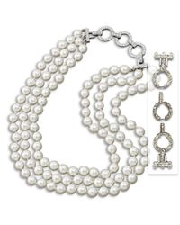 Kenneth Jay Lane | Metallic White Pearl Necklace | Lyst