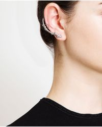 Loree Rodkin - Metallic 18k Oxidised Gold And Diamond Branch Ear Cuff - Lyst