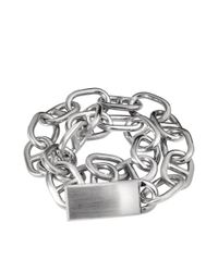 Acne Studios Metallic Eliana Chain Bracelet