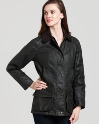 Barbour - Black Beadnell Waxed Jacket - Lyst