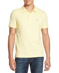 Lacoste - Yellow Stretch Pique Polo for Men - Lyst