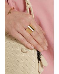 Jennifer Fisher - Metallic Cigar Band Goldplated Brass Ring - Lyst