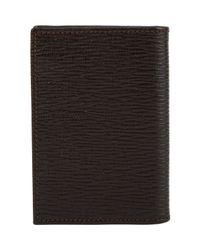Ferragamo | Brown Revival Folding Card Case for Men | Lyst