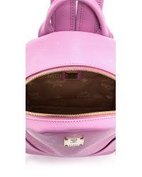 MCM Diamond Print Mini Backpack - Pink