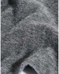 ASOS Gray Mini Coat Cape In Brushed Mohair
