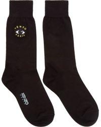 KENZO Black Eye Logo Socks for men