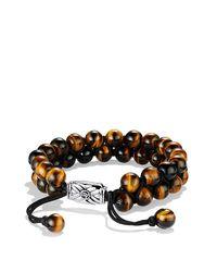 David Yurman | Brown Spiritual Beads Two-row Bracelet With Tiger's Eye for Men | Lyst