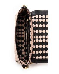 Tory Burch Pink Kerrington Cross Body Bag Blush Champagne Dot