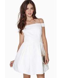 Nasty Gal - White Dream Weaver Jacquard Dress - Lyst