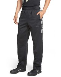 Nike | Black 'elite Stripe' Therma-fit Athletic Pants for Men | Lyst