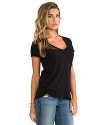 James Perse - Black Classic Relaxed Casual V Tee - Lyst