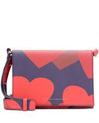 Victoria Beckham Red Mini Printed Leather Shoulder Bag