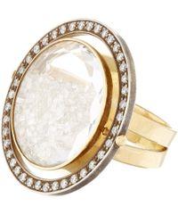 Moritz Glik | Metallic Gold Diamond And White Sapphire Ring | Lyst