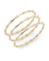 Saks Fifth Avenue - Metallic Bamboo Bangle Bracelet Set/gold - Lyst
