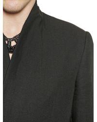 Tom Rebl | Black Double Breasted Viscose & Linen Jacket for Men | Lyst