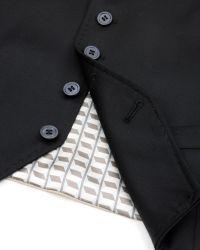 Ted Baker | Black Wool Vest for Men | Lyst