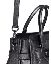 COACH Black X Blitz 'swagger' Small Patchwork Metallic Leather Tote