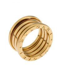 BVLGARI - Metallic Women's B.zero1 18k Yellow Gold 4-band Ring Size 5.5 - Lyst