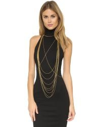 Chan Luu - Metallic Draping Body Chain - Gold - Lyst