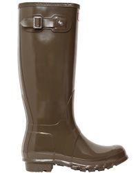 HUNTER Natural Original Tall Gloss Wellington Boots