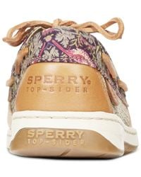 Sperry Top-Sider Brown Women's Bluefish Linen Oat Boat Shoes