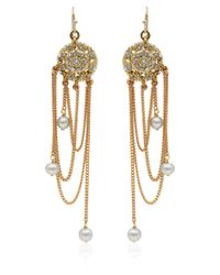 Lulu Frost - Metallic Goldtone Coquille Pearl Drop Earrings - Lyst