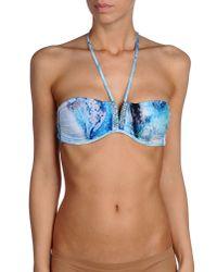La Perla - Blue Bikini Top - Lyst