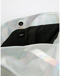 ASOS - Metallic Scratchy Hologram Shopper Bag - Lyst