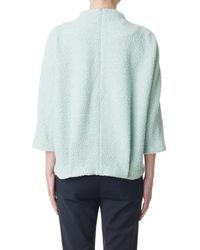 Tibi - Green Boucle Cozy Top - Lyst