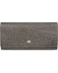 Mulberry | Tree Metallic Leather Continental Wallet, Women's, Dark Silver | Lyst