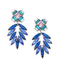 DANNIJO - Blue Simon Crystal Chandelier Earrings - Lyst
