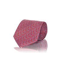 Brioni Red Neat Jacquard Necktie for men