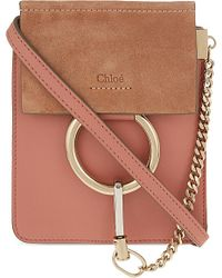 Chloé Pink Faye Mini Bracelet Leather Shoulder Bag