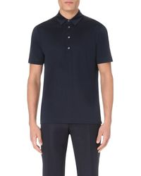 Canali | Blue Mercerised-cotton Polo Shirt for Men | Lyst
