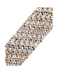 ABS By Allen Schwartz - Metallic Rose Goldtone Mesh Bead Bracelet - Lyst