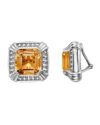 Slane - Metallic Voltaire Square Citrine Earrings - Lyst