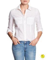 Banana Republic | White Factory Soft-wash Shirt | Lyst